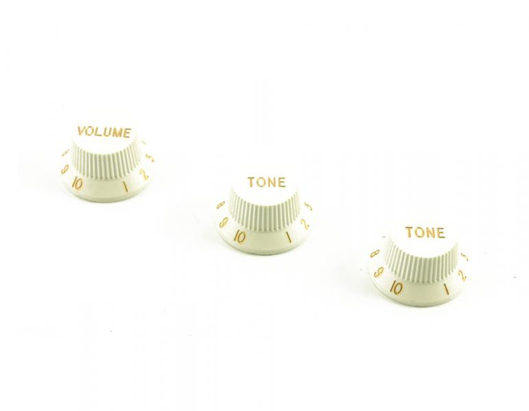Volume & Tone Knob Set White