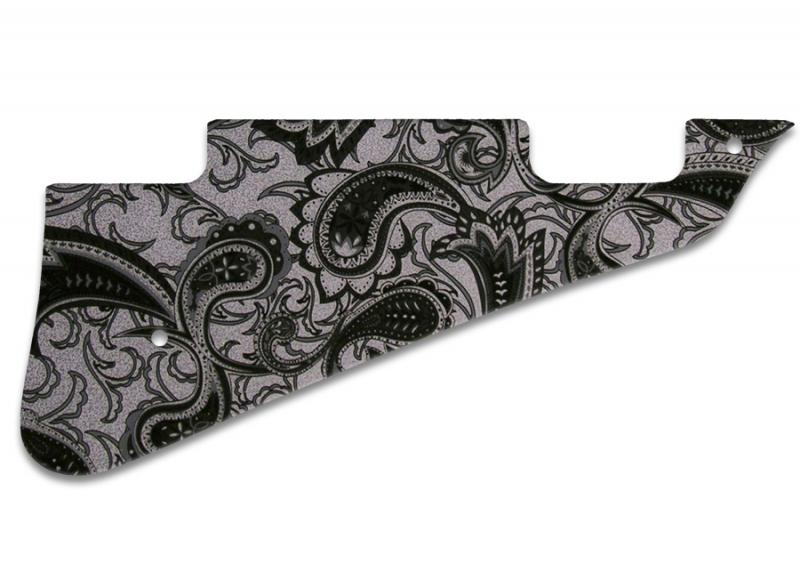 GIBSON LES PAUL DELUXE PICKGUARD BLACK SILVER PAISLEY