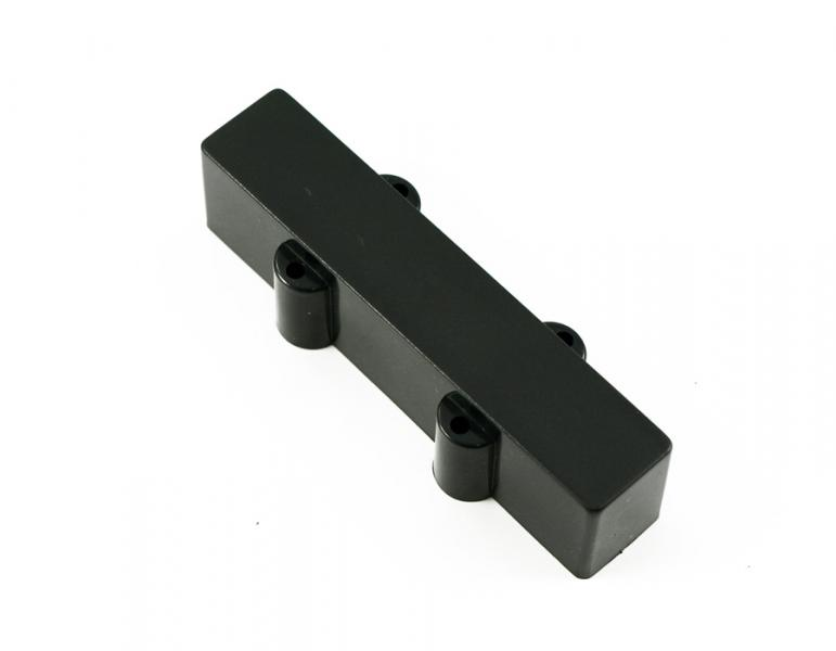 JAZZ BASS PICKUP COVER CLOSED BRIDGE BLACK