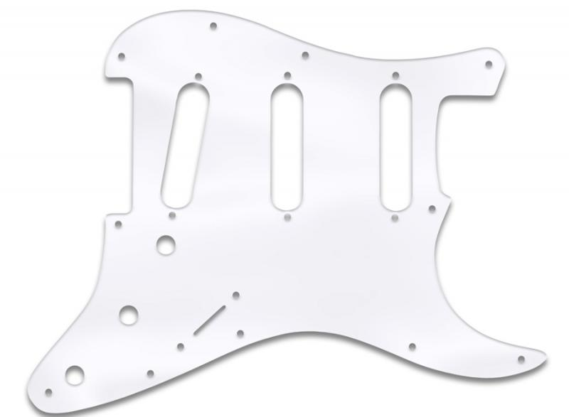 FENDER STRATOCASTER PICKGUARD CLEAR ACRYLIC