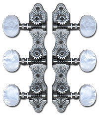 DELUXE CLASSICAL TUNERS NICKEL / PEARL