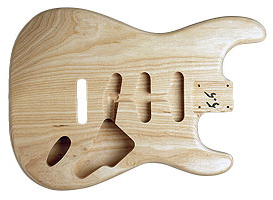 STRAT BODY SWAMP ASH UNFINISHED
