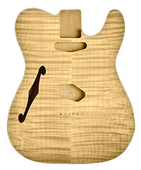 TELE BODY HOLLOW FLAME/ALDER UNFINISHED