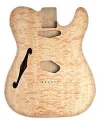 TELE BODY HOLLOW QUILT/ALDER UNFINISHED